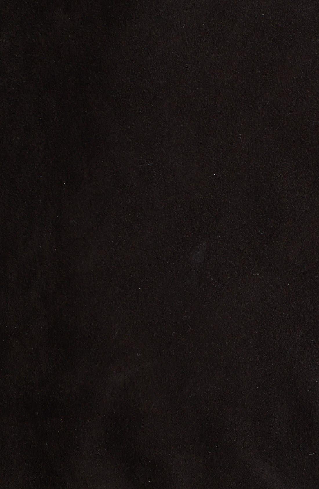 Alternate Image 3  - Vince Leather Framed Suede Dress