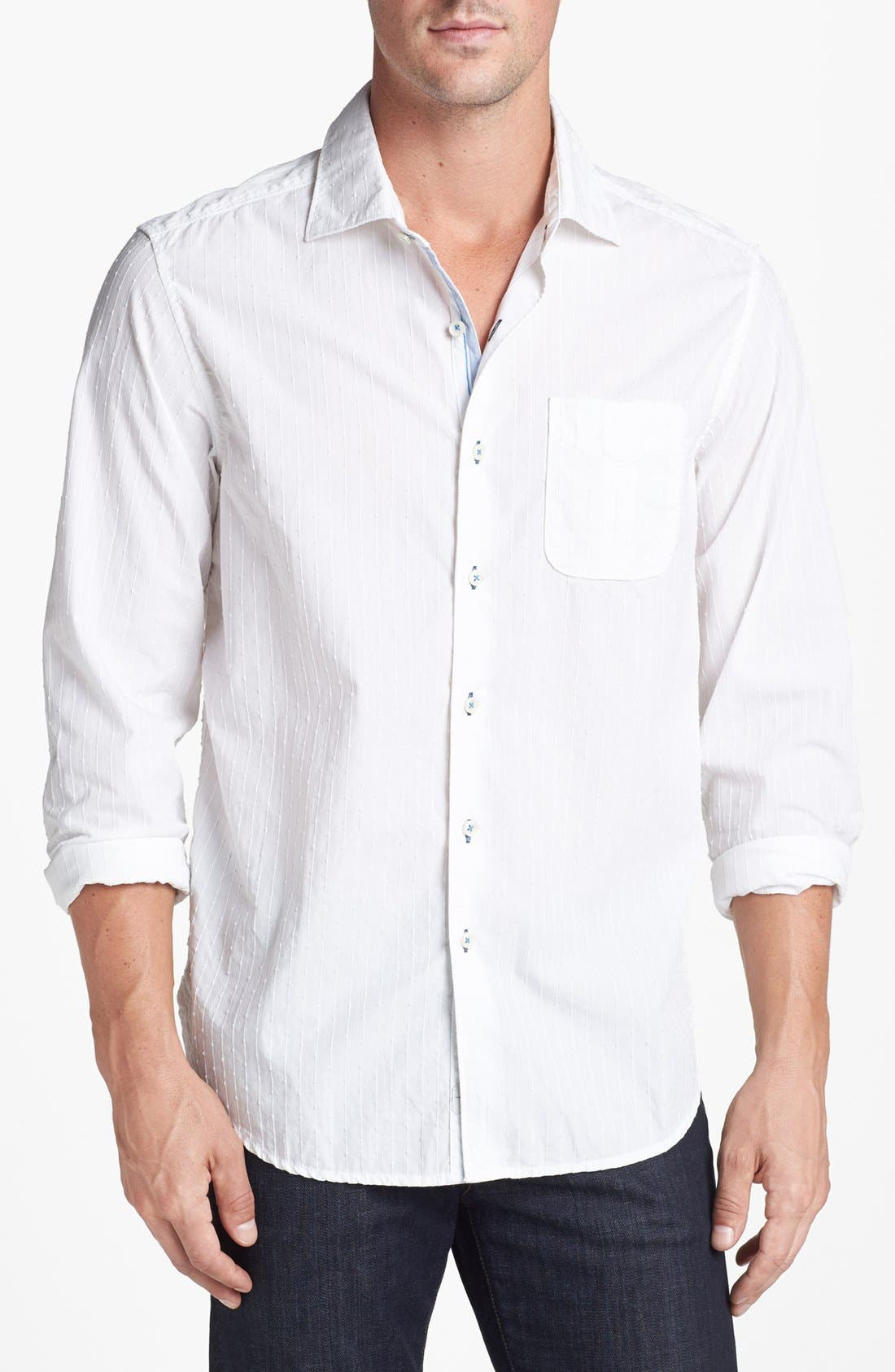 Alternate Image 1 Selected - Tommy Bahama Denim '3 Stripe 'n Seek' Island Modern Fit Sport Shirt