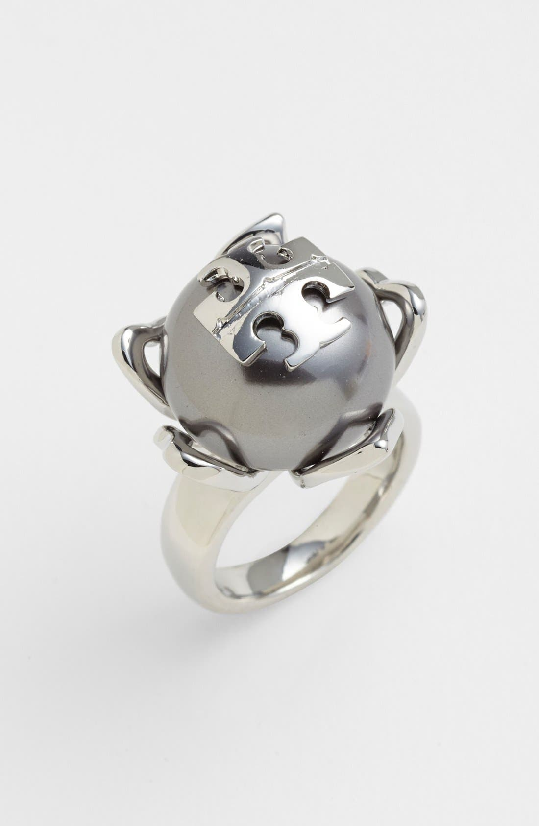 Main Image - Tory Burch 'Emma' Faux Pearl Ring