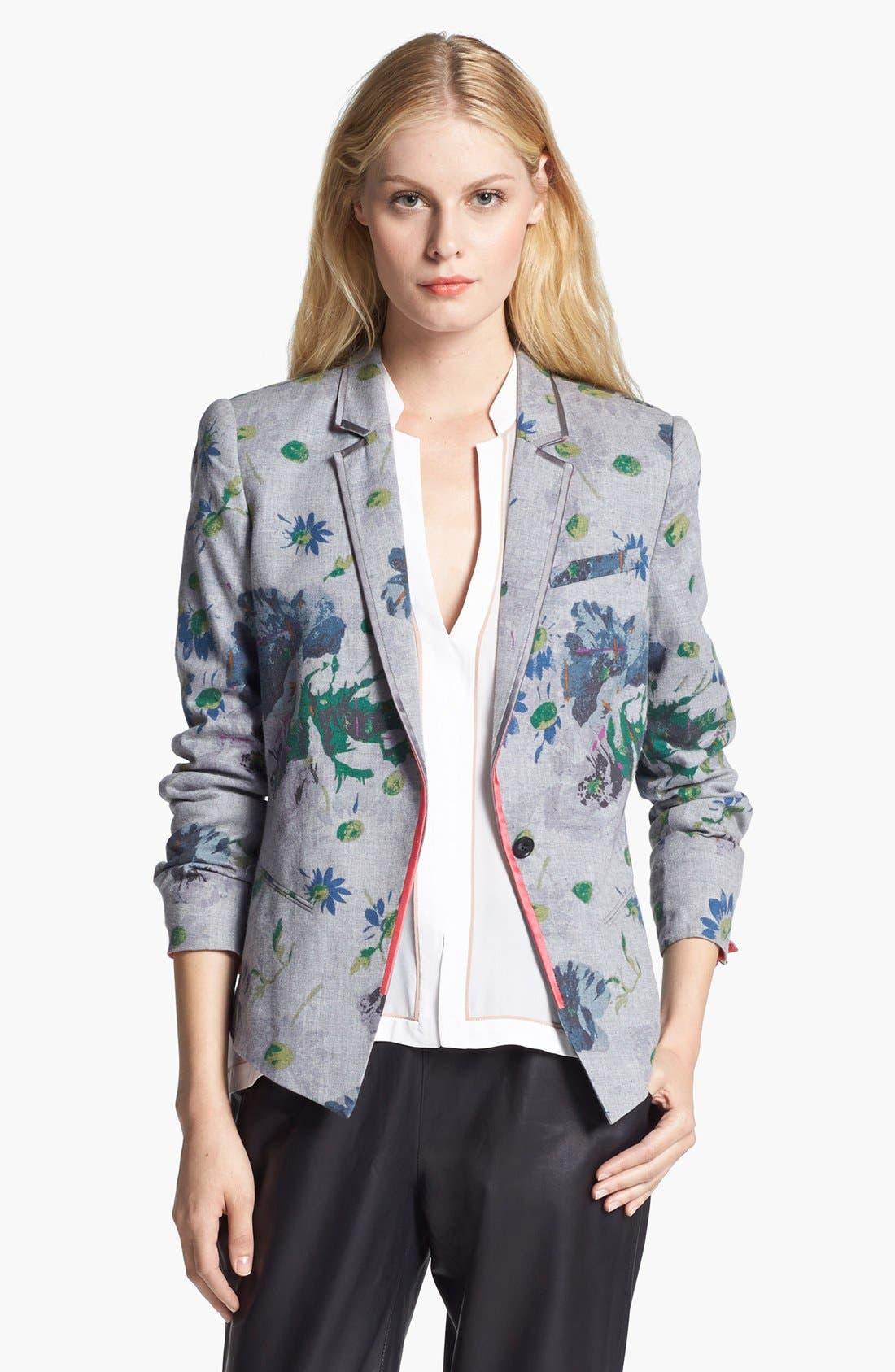 Alternate Image 1 Selected - Elizabeth and James 'Bourne' Floral Print Flannel Jacket