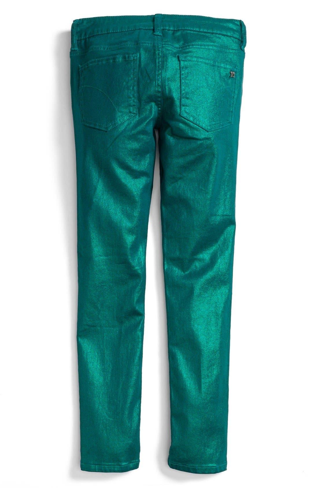 Alternate Image 1 Selected - Joe's Metallic Denim Leggings (Little Girls)
