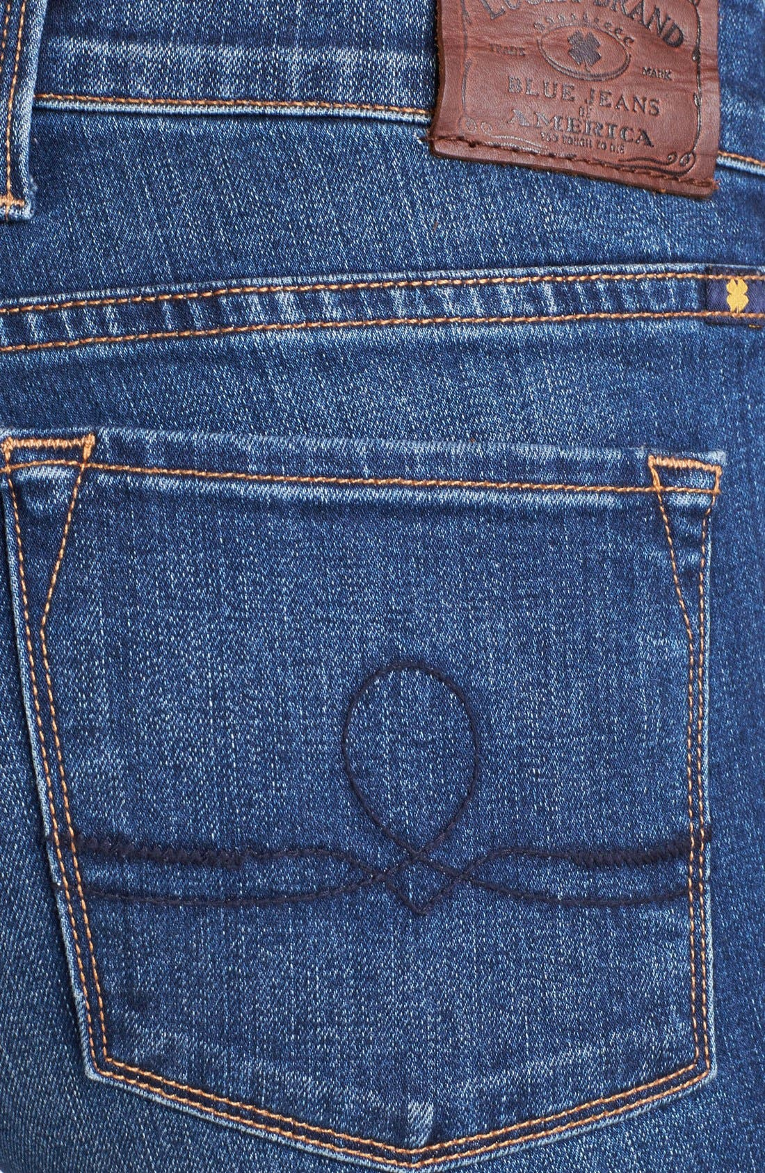 Alternate Image 3  - Lucky Brand 'Sofia' Destroyed Ankle Zip Skinny Jeans (Possum Trot)