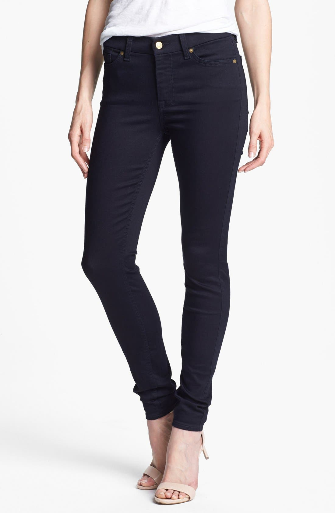 Alternate Image 1  - 7 For All Mankind® 'The Skinny' Stretch Jeans (Elasticity Clean Blue)