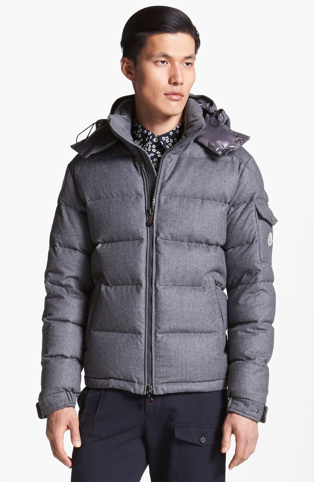 Main Image - Moncler 'Mongenevre' Wool Down Jacket