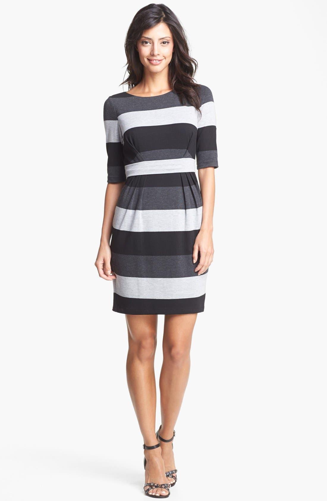 Main Image - Vince Camuto Stripe Knit Sheath Dress