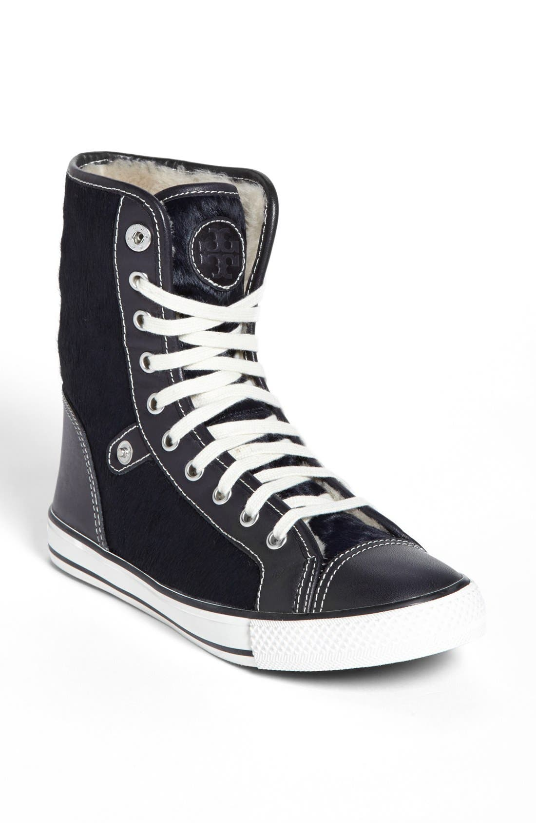 Alternate Image 1 Selected - Tory Burch 'Benjamin' High Top Sneaker