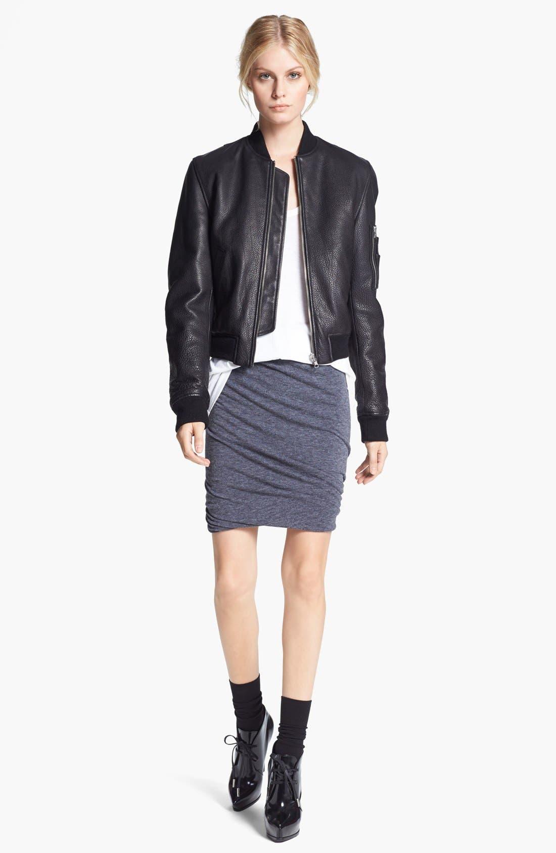 Alternate Image 2  - T by Alexander Wang Twisted Hem Jersey Skirt