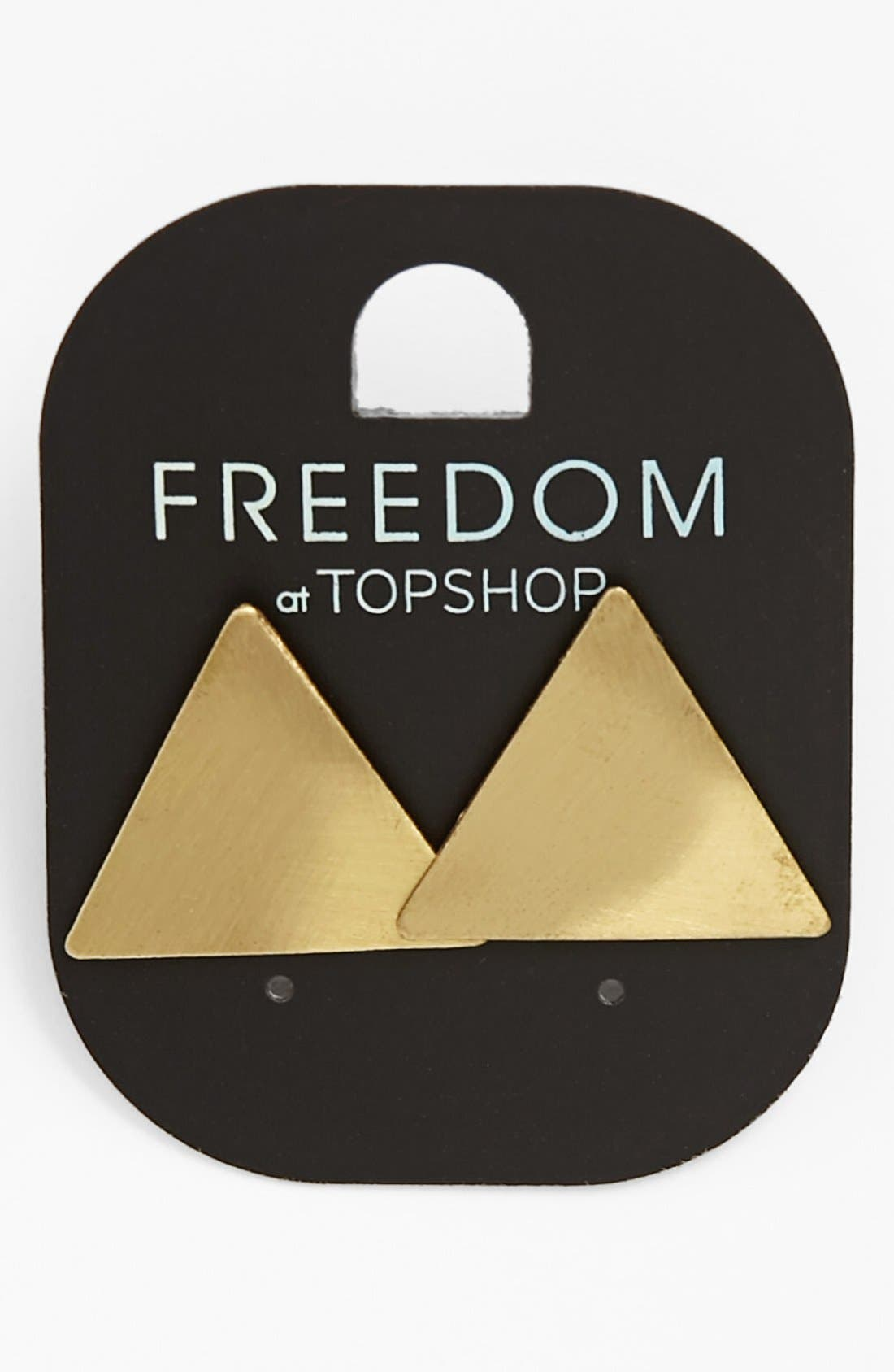 Main Image - Topshop Brushed Triangle Earrings