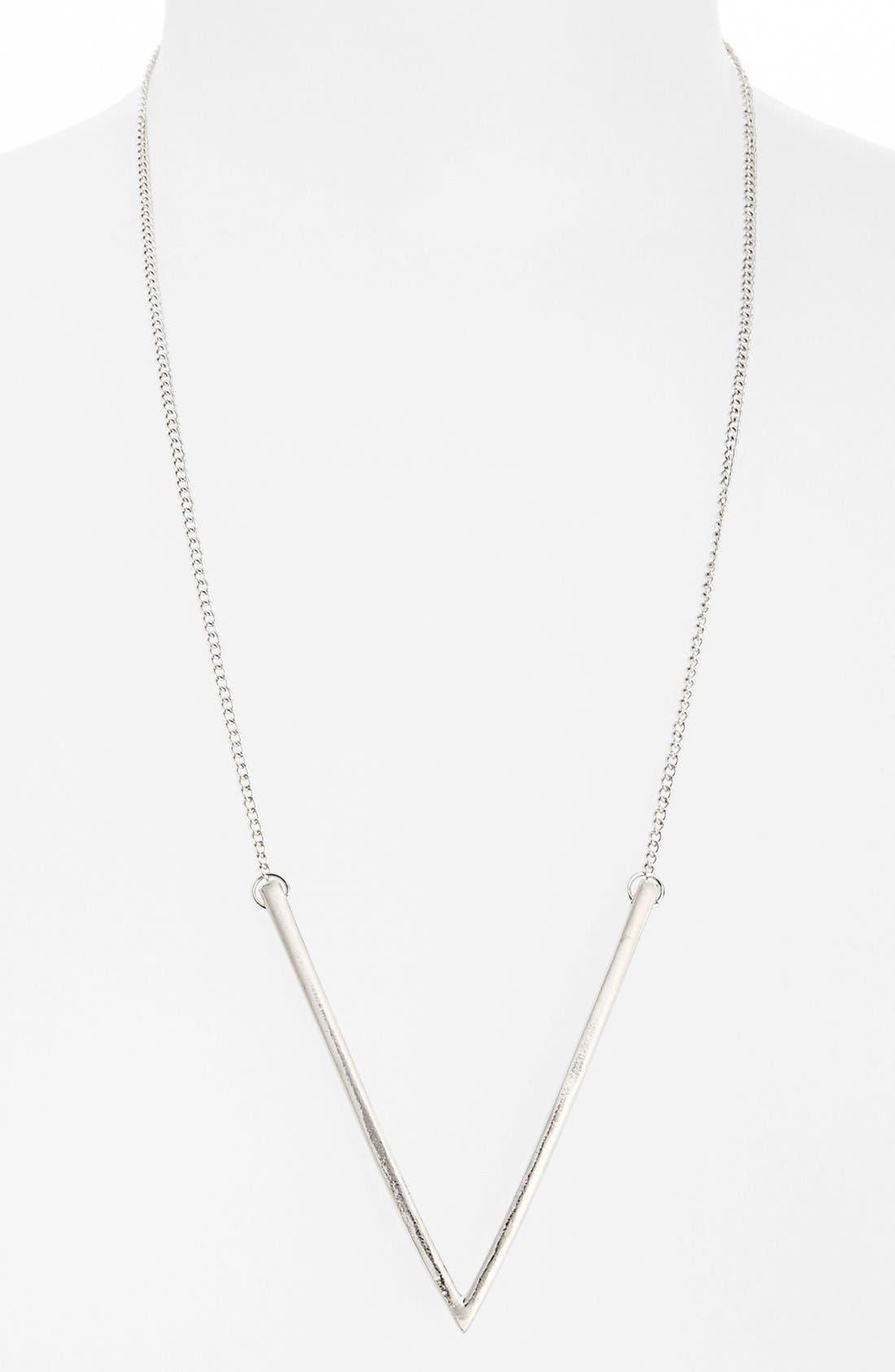 Alternate Image 1 Selected - Topshop Long V Pendant Necklace