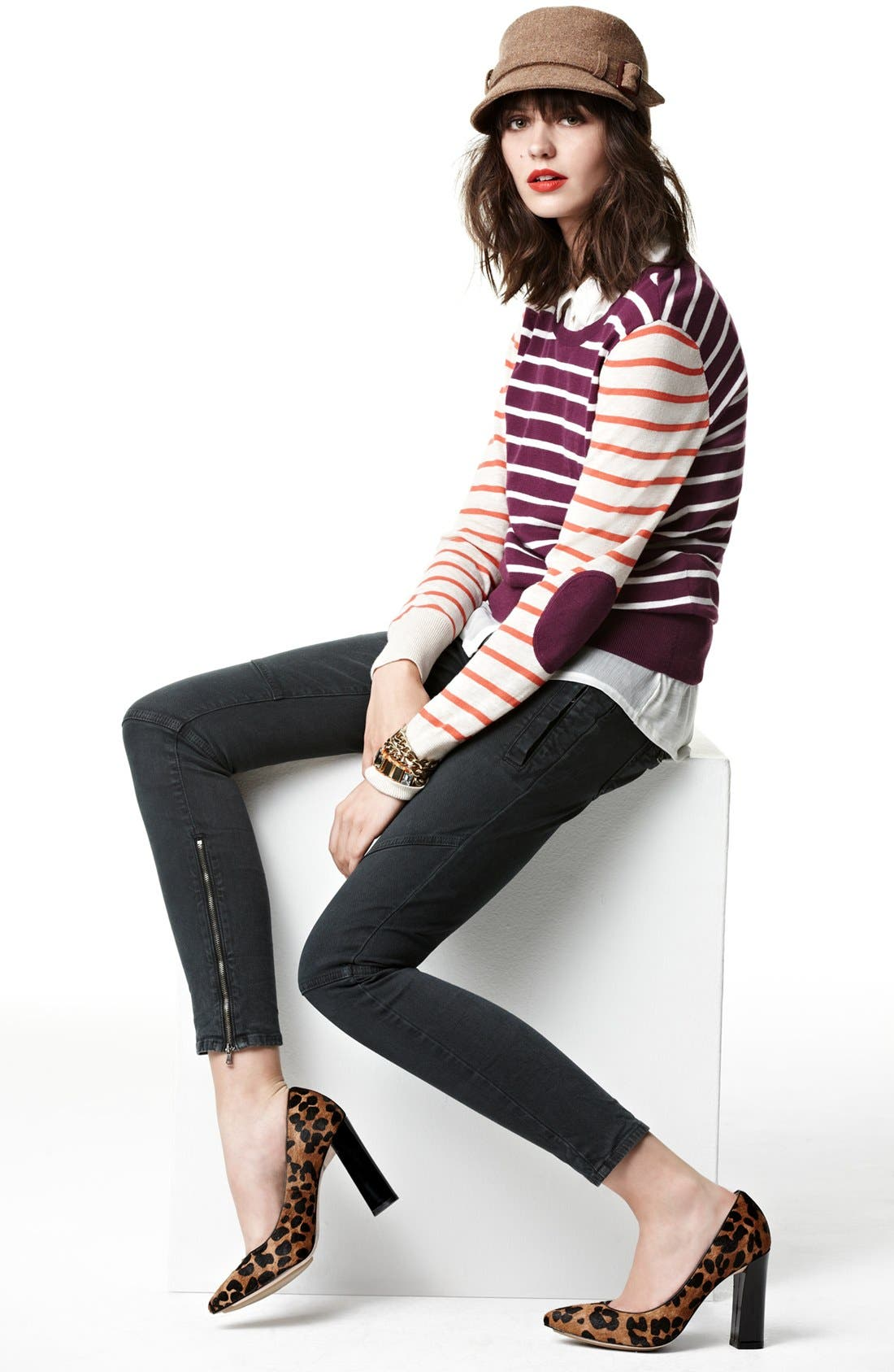 Alternate Image 1 Selected - Halogen® Sweater, Lucky Brand Shirt & Paige Denim Jeans