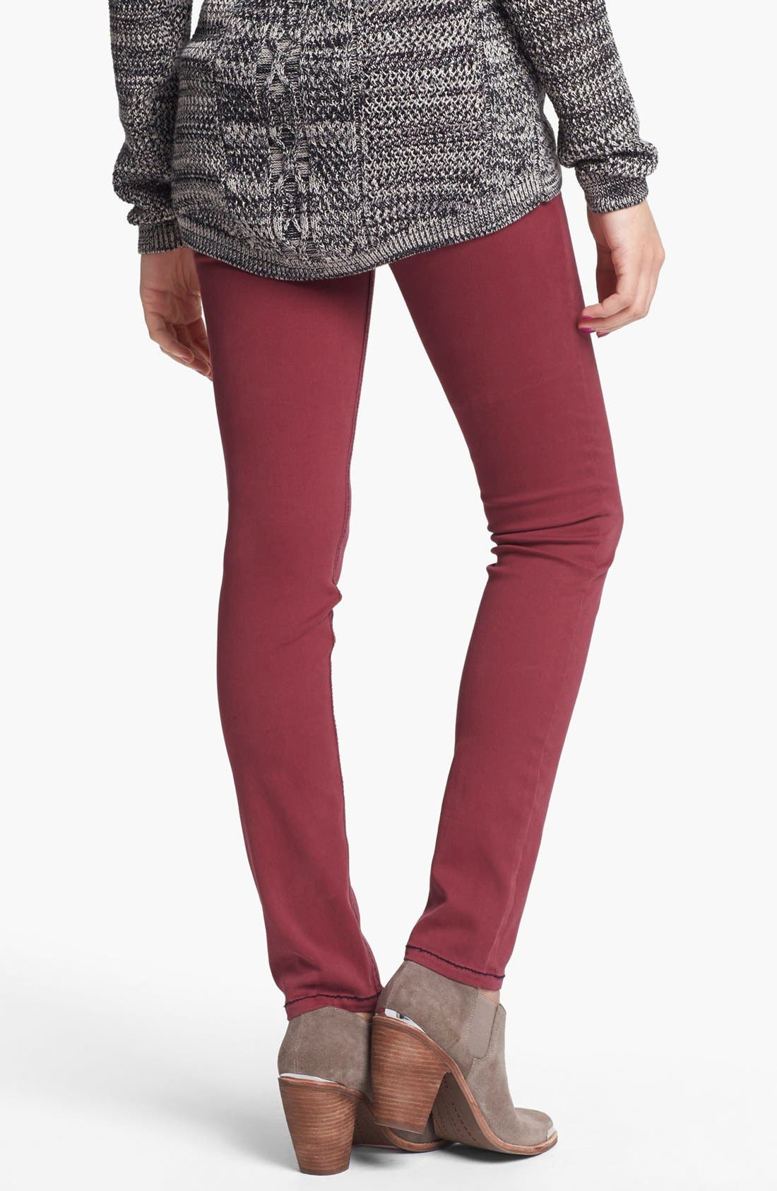 Alternate Image 2  - Fire Overdyed Skinny Jeans (Pinot) (Juniors)