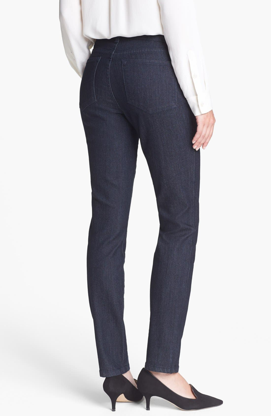 Alternate Image 2  - NYDJ 'Alina' Stretch Skinny Jeans (Dark Enzyme) (Petite)