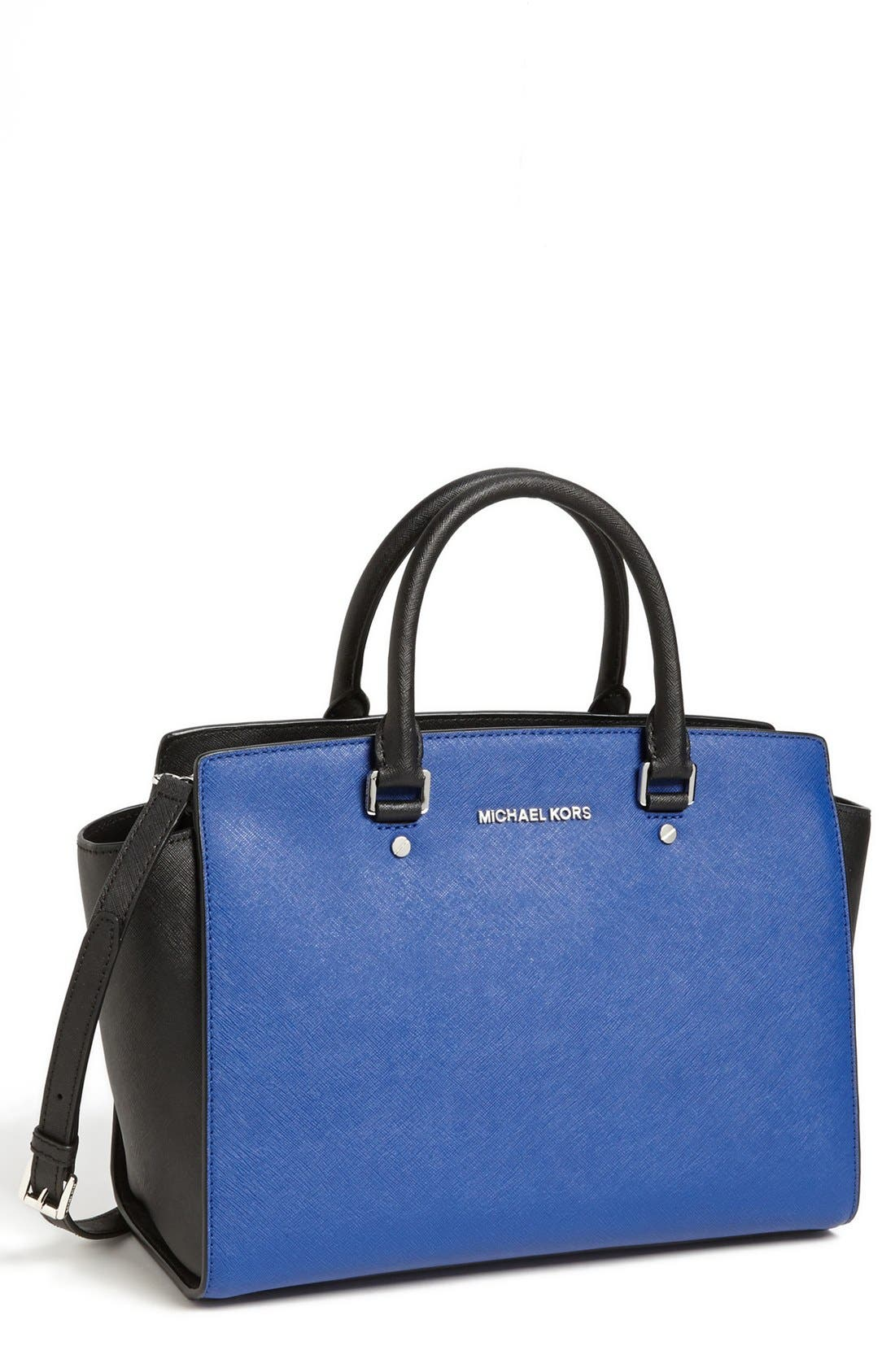 Main Image - MICHAEL Michael Kors 'Selma - Large' Leather Satchel