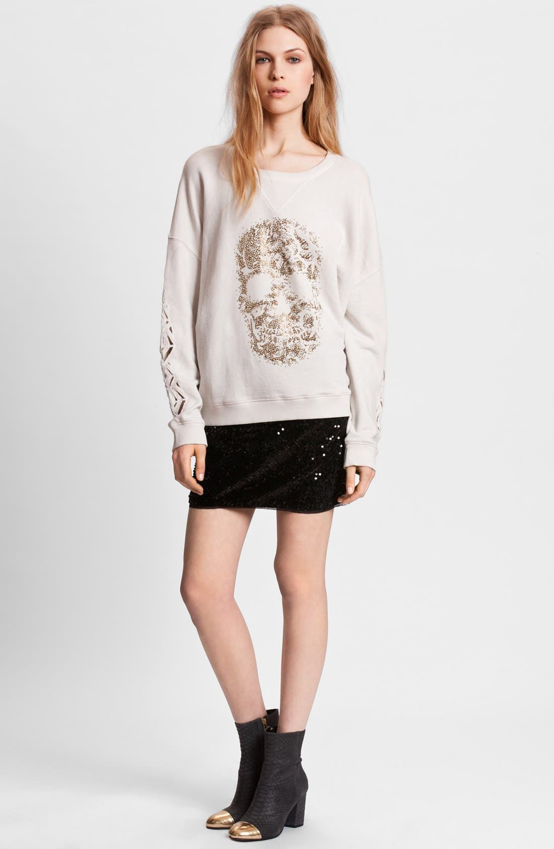 Alternate Image 2  - Zadig & Voltaire 'Sunny' Skull Embellished Sweatshirt