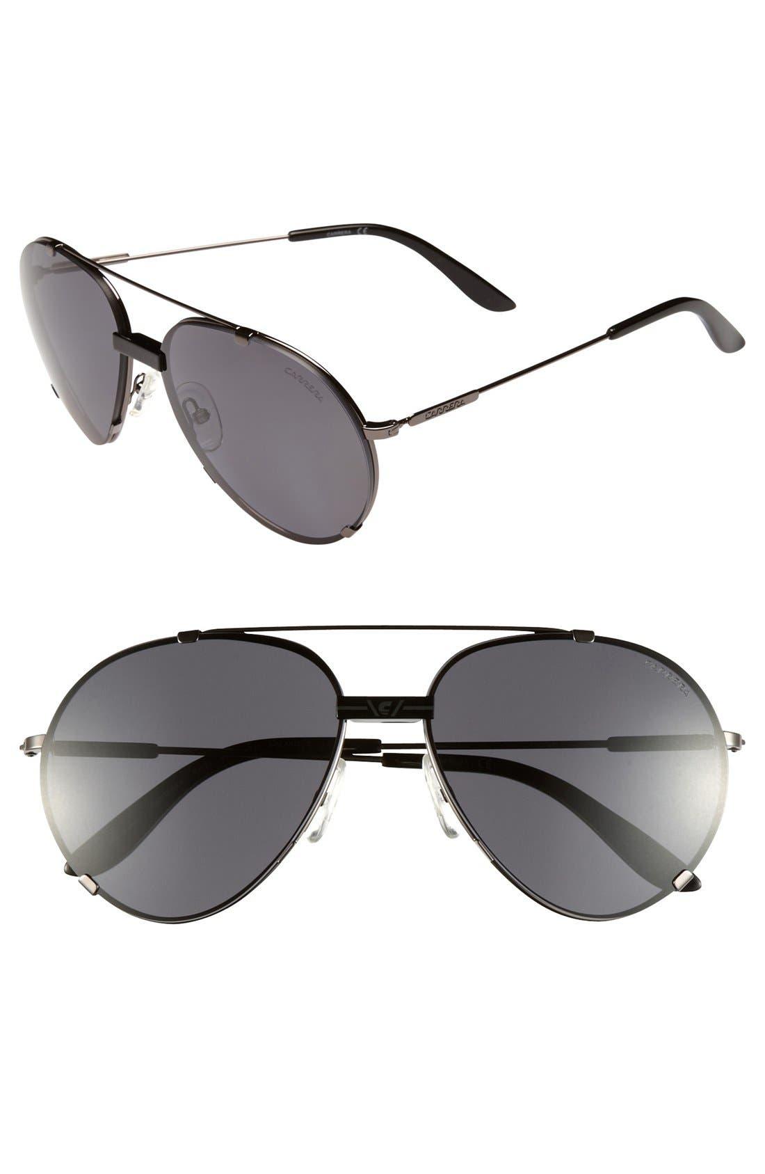 Main Image - Carrera Eyewear 60mm Aviator Sunglasses