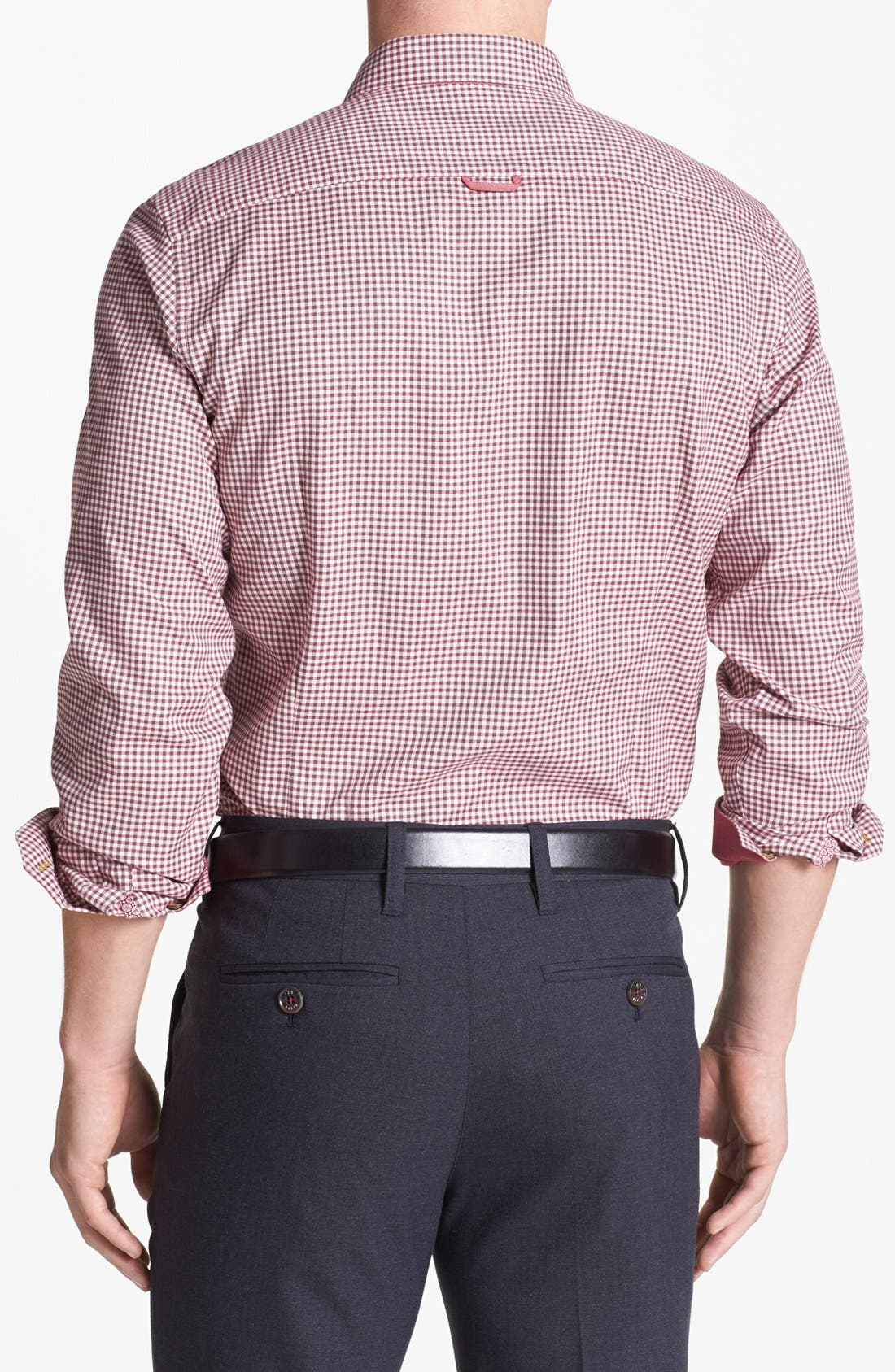 Alternate Image 2  - Ted Baker London 'Flannew' Flannel Trim Sport Shirt