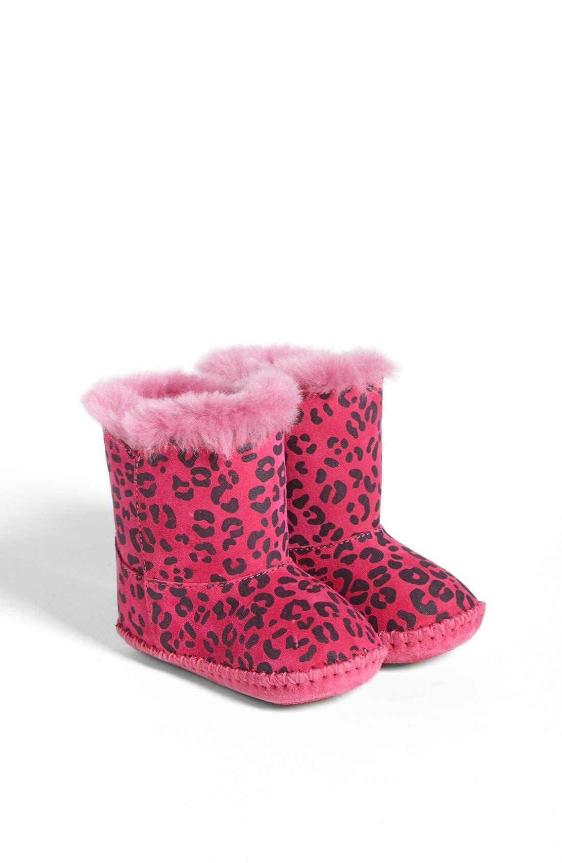Main Image - UGG® Australia 'Cassie' Leopard Print Boot (Baby & Walker)(Nordstrom Exclusive)