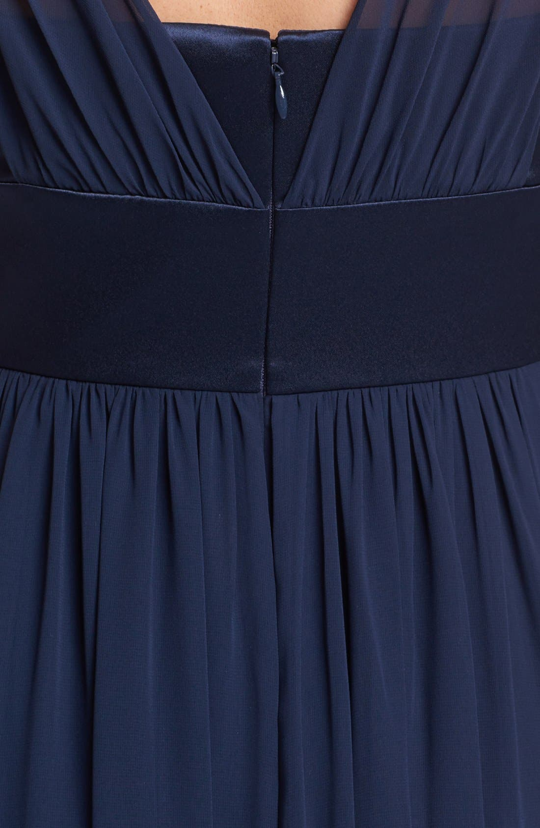 Alternate Image 3  - Dessy Collection Satin & Chiffon Dress