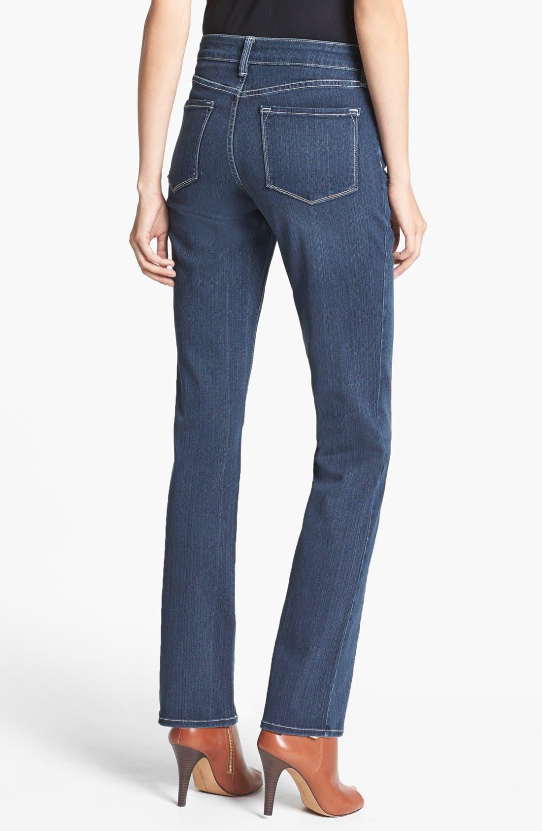 Alternate Image 2  - NYDJ 'Barbara' Stretch Bootcut Jeans (Coral Sea)