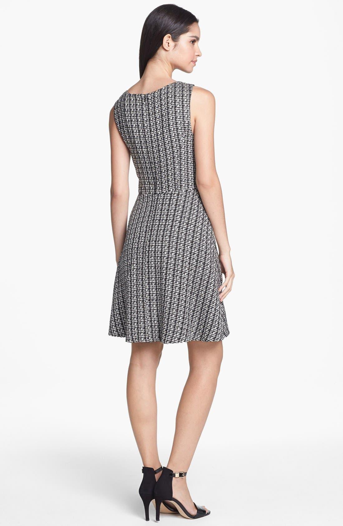 Alternate Image 2  - Jessica Simpson Lace Yoke Bouclé Fit & Flare Dress