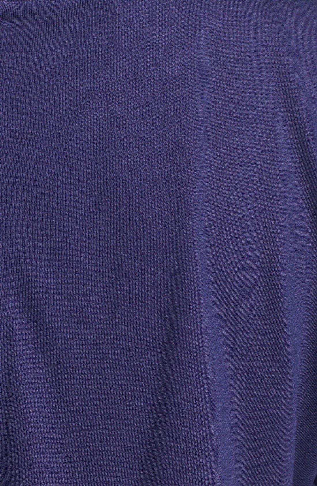 Alternate Image 3  - Halogen® Faux Leather Pocket Tee