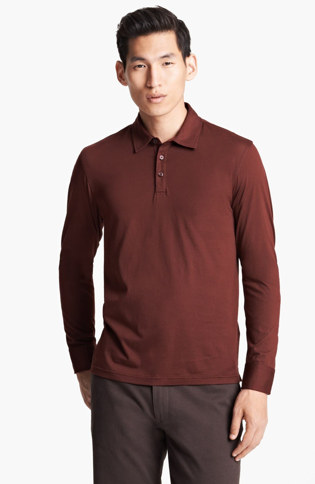 Alternate Image 1 Selected - Zegna Sport 'Ice' Long Sleeve Polo