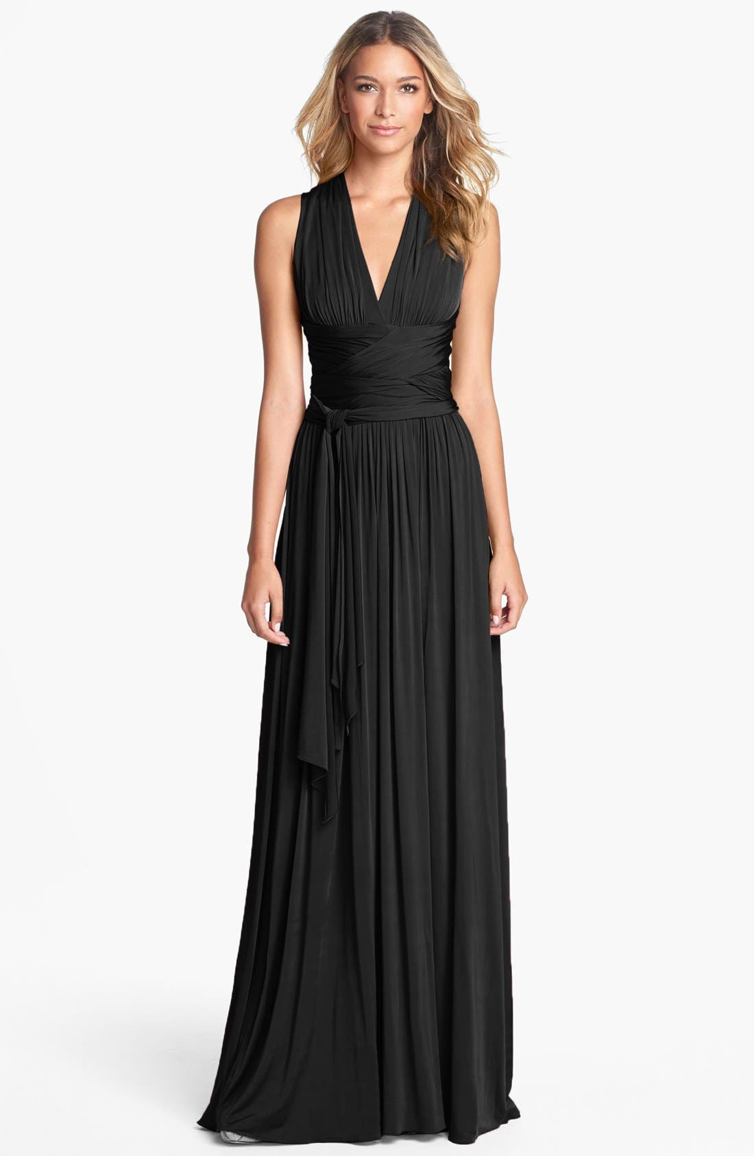 Alternate Image 1 Selected - Halston Heritage Crisscross Detail Jersey Maxi