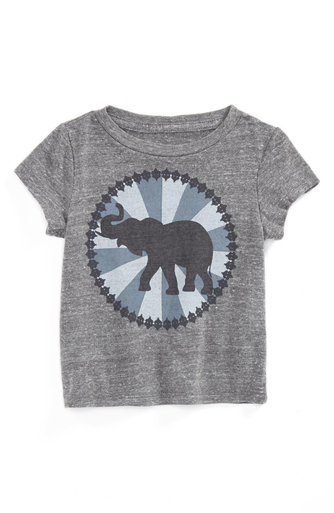 Alternate Image 1 Selected - Peek 'Baby Elephant' Tee (Baby Girls)