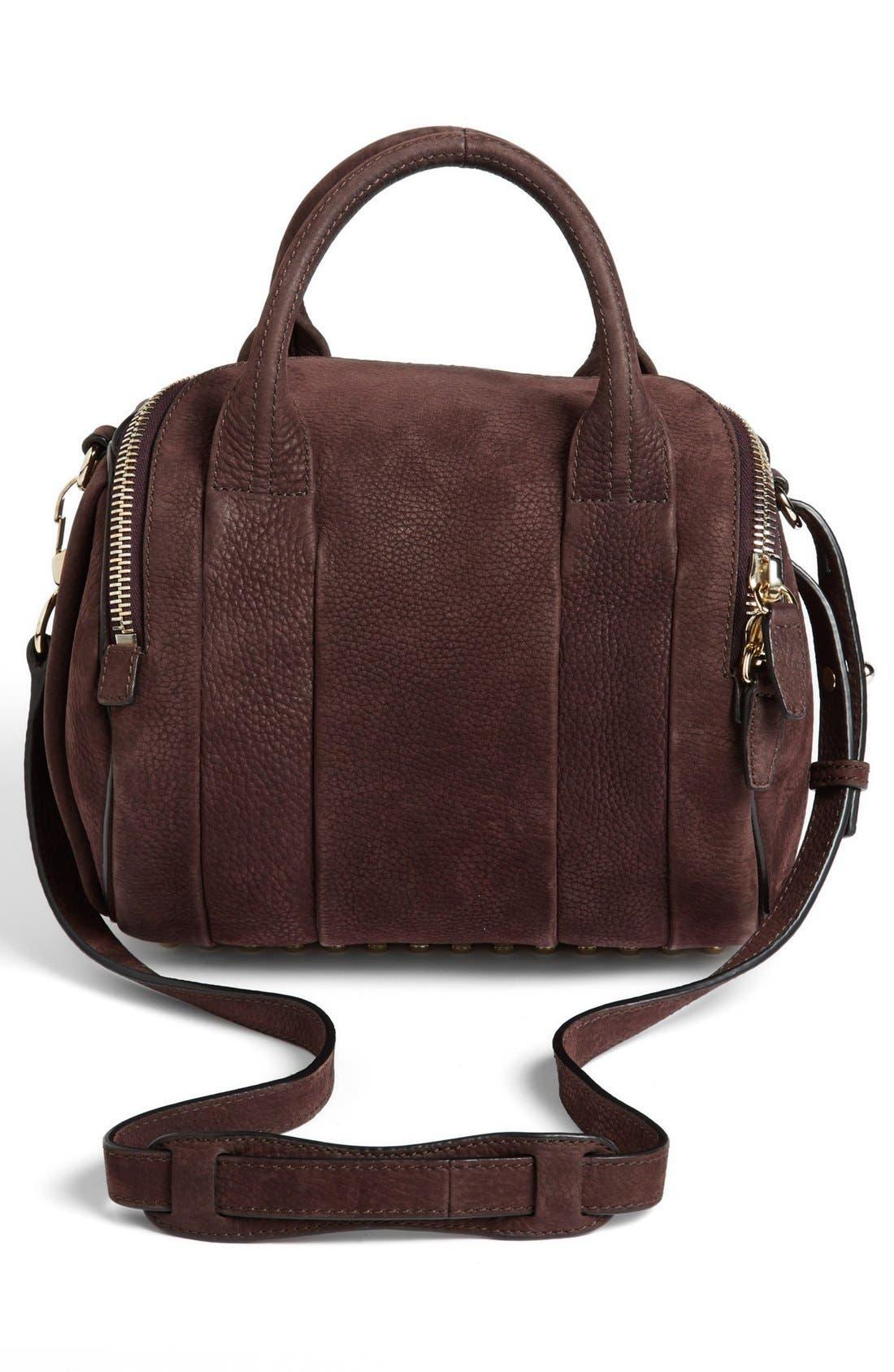 Alternate Image 3  - Alexander Wang 'Rockie - Pale Gold' Nubuck Leather Crossbody Bag