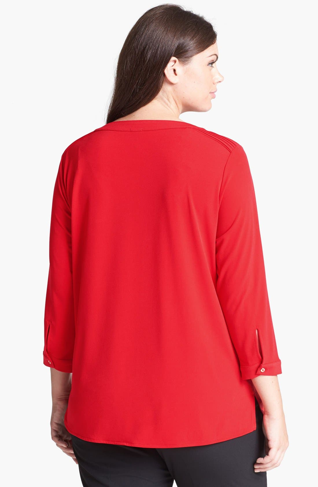 Alternate Image 2  - Anne Klein Henley Top (Plus Size)