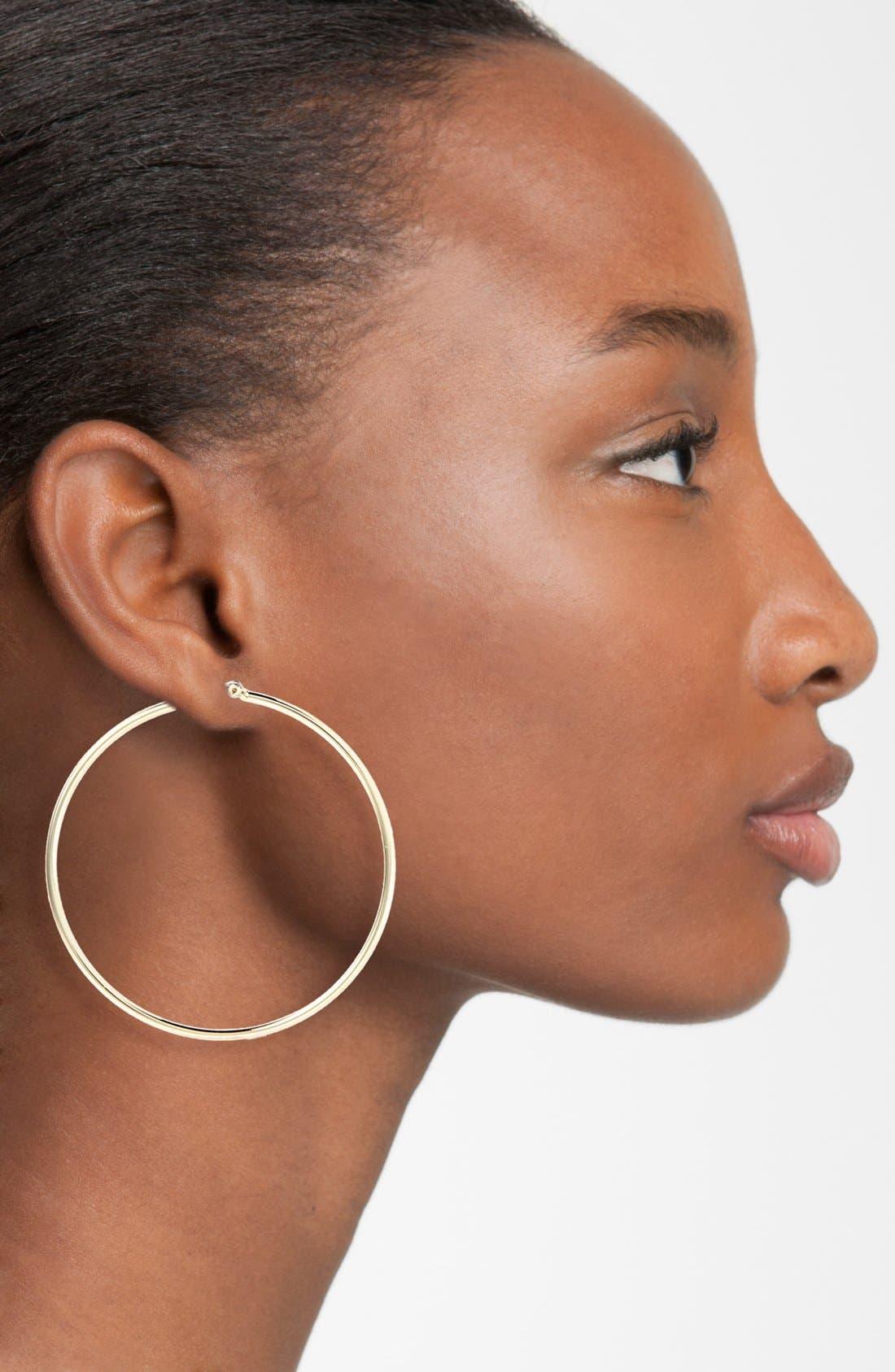 Alternate Image 2  - Lauren Ralph Lauren Large Hoop Earrings