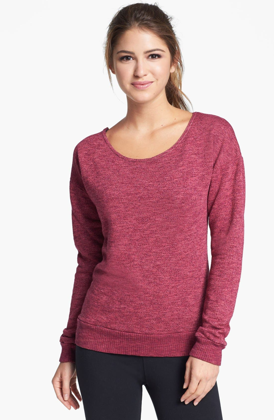 Alternate Image 2  - Hard Tail Slouchy Back Sweatshirt
