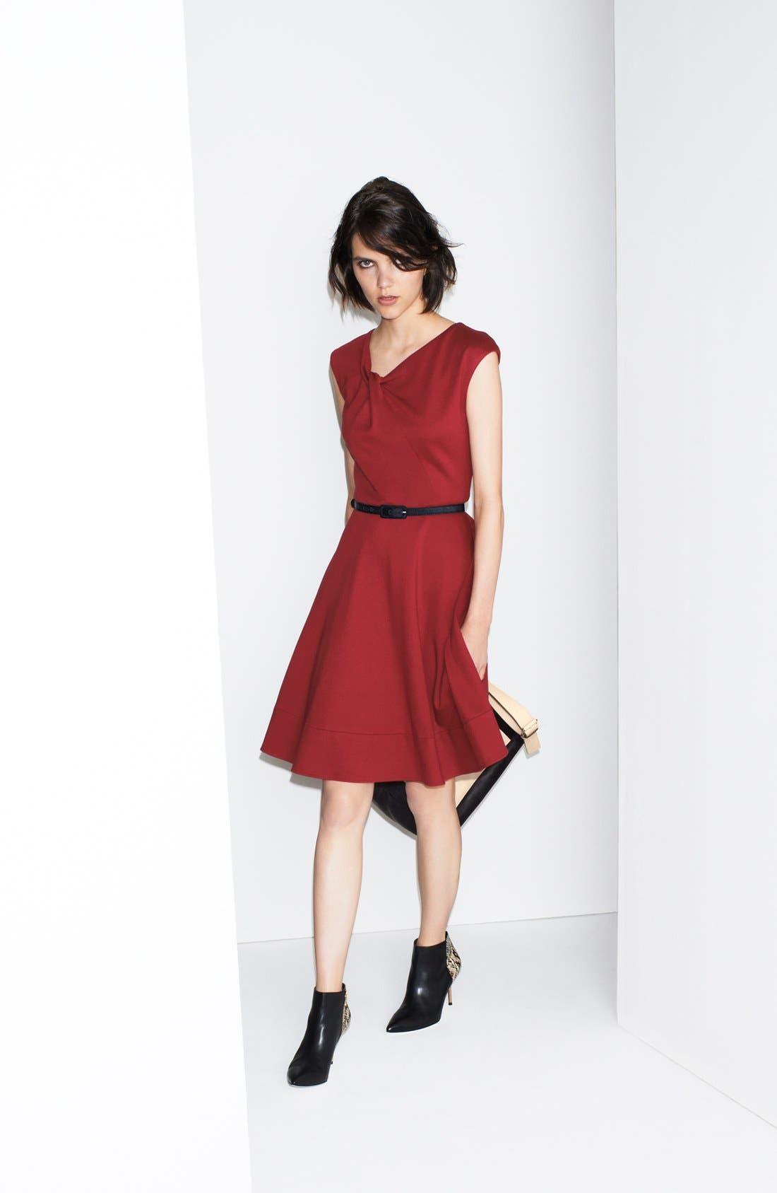 Alternate Image 5  - Eliza J Twist Neck Fit & Flare Dress