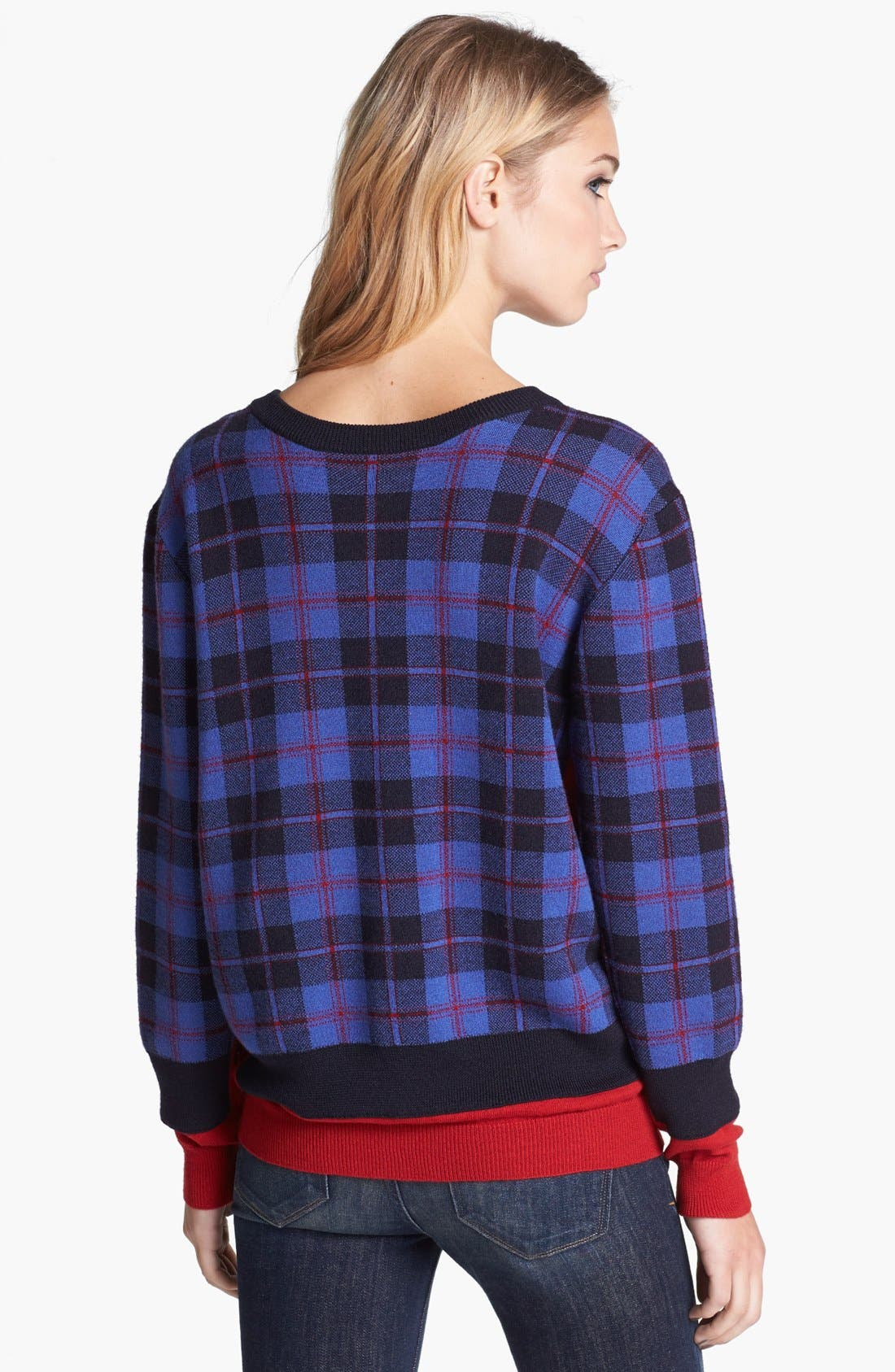Alternate Image 2  - MARC BY MARC JACOBS 'Aimee' Plaid Sweater