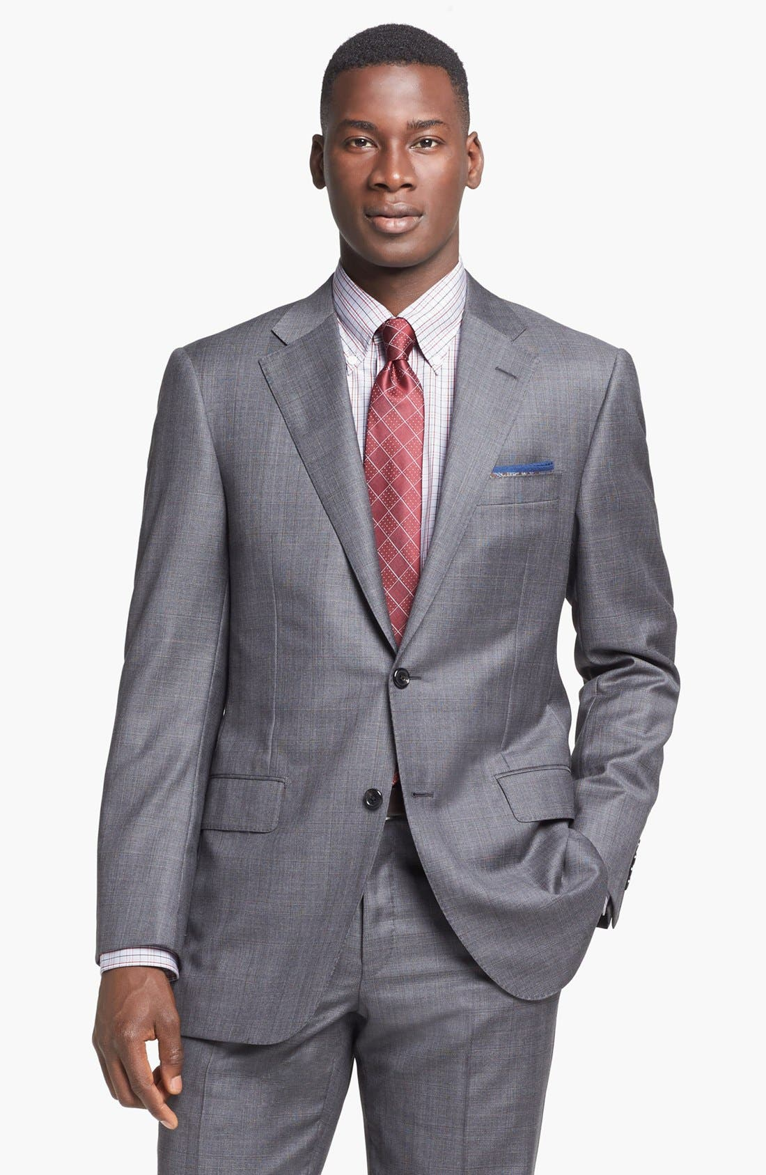 Alternate Image 4  - Hickey Freeman 'B Series' Classic Fit Plaid Suit
