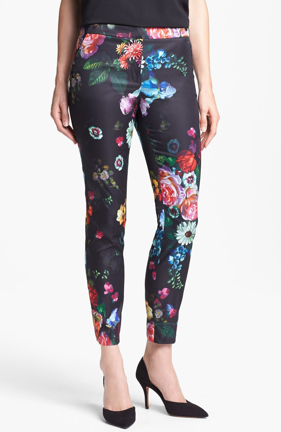 Alternate Image 1 Selected - Ted Baker London 'Oil Painting' Crop Trousers