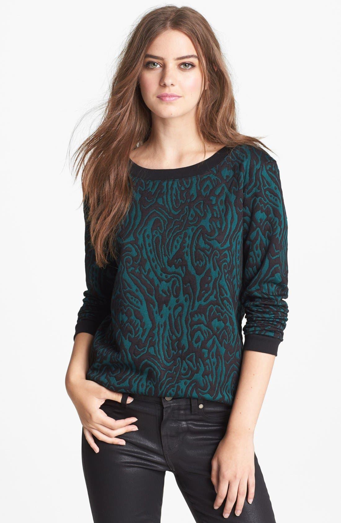 Alternate Image 1 Selected - Hinge® Bow Back Jacquard Sweatshirt