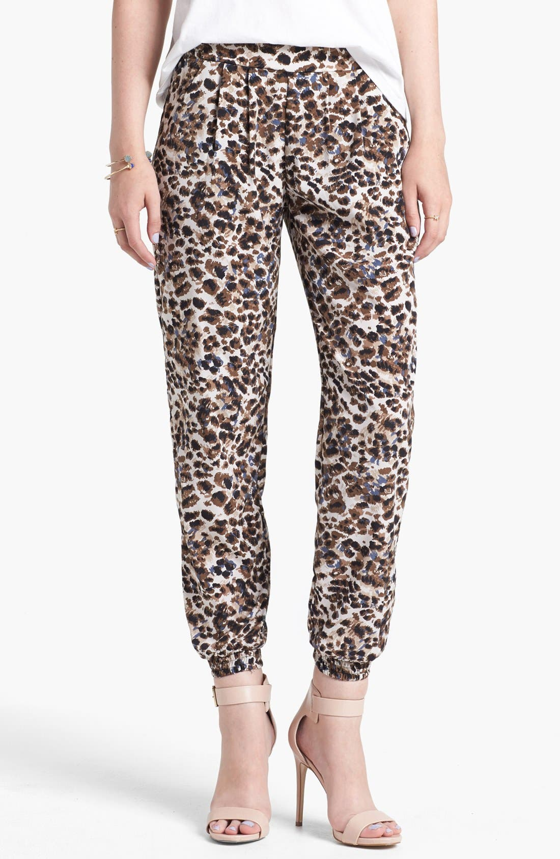 Alternate Image 1 Selected - Lily White Relaxed Woven Pants (Juniors) (Online Only)