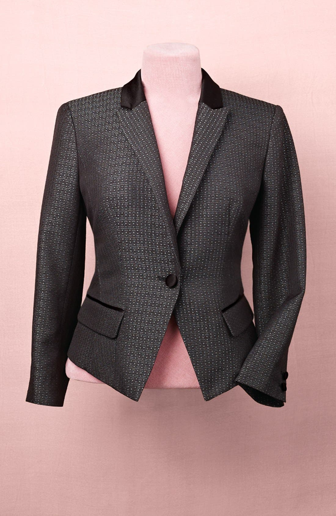 Alternate Image 7  - Halogen® Jacquard One Button Blazer
