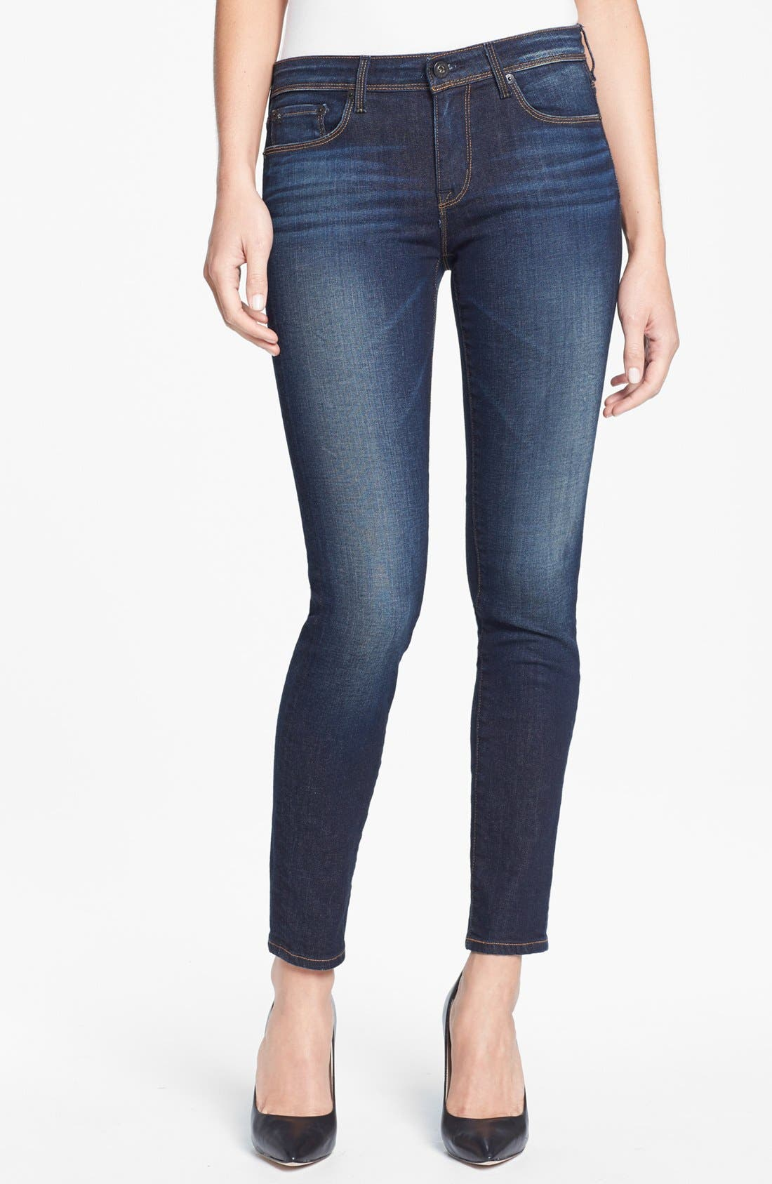 Main Image - Big Star 'Alex' Stretch Skinny Jeans (Valencia) (Petite)