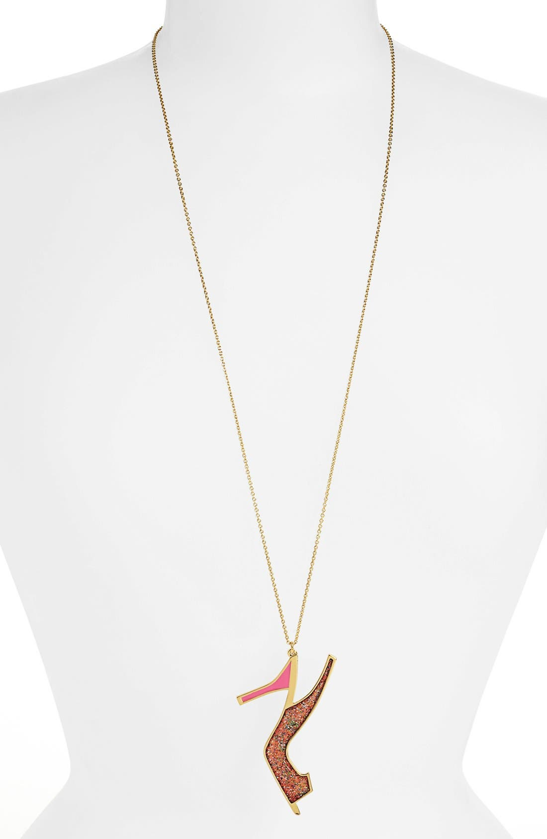Alternate Image 1 Selected - kate spade new york 'shoe in' long pendant necklace