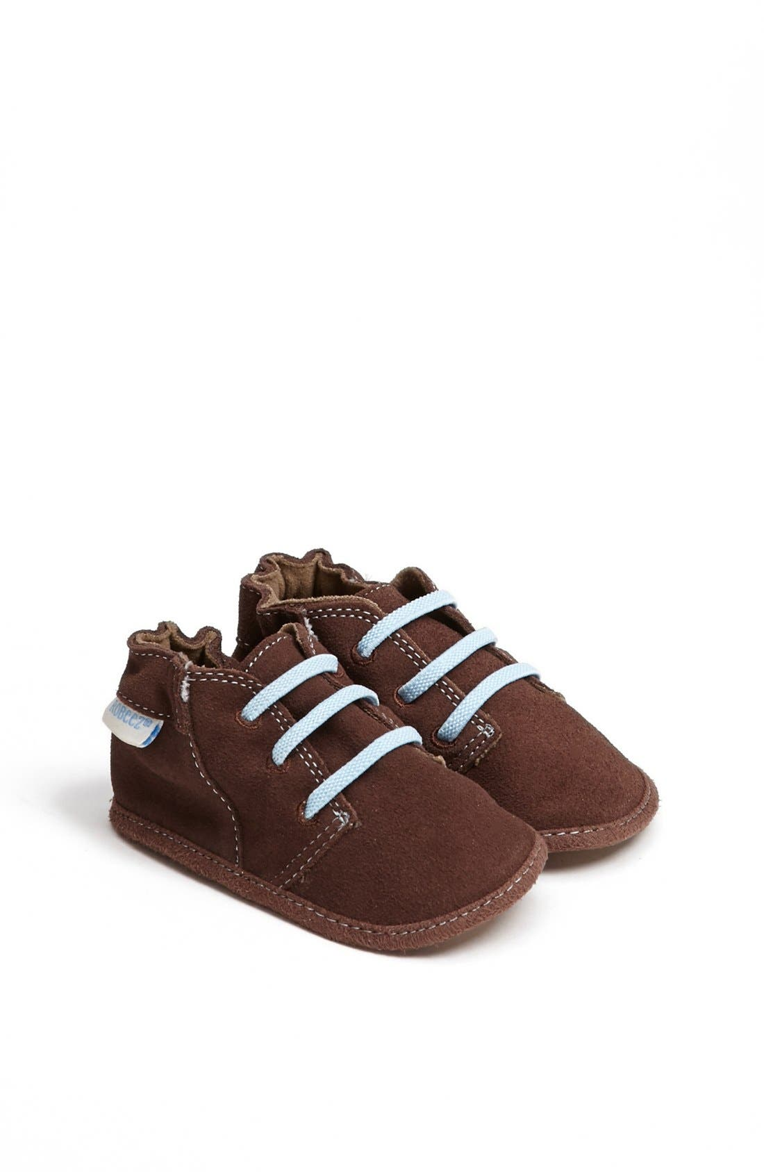 Alternate Image 1 Selected - Robeez® 'Charlie' Crib Shoe (Baby & Walker)