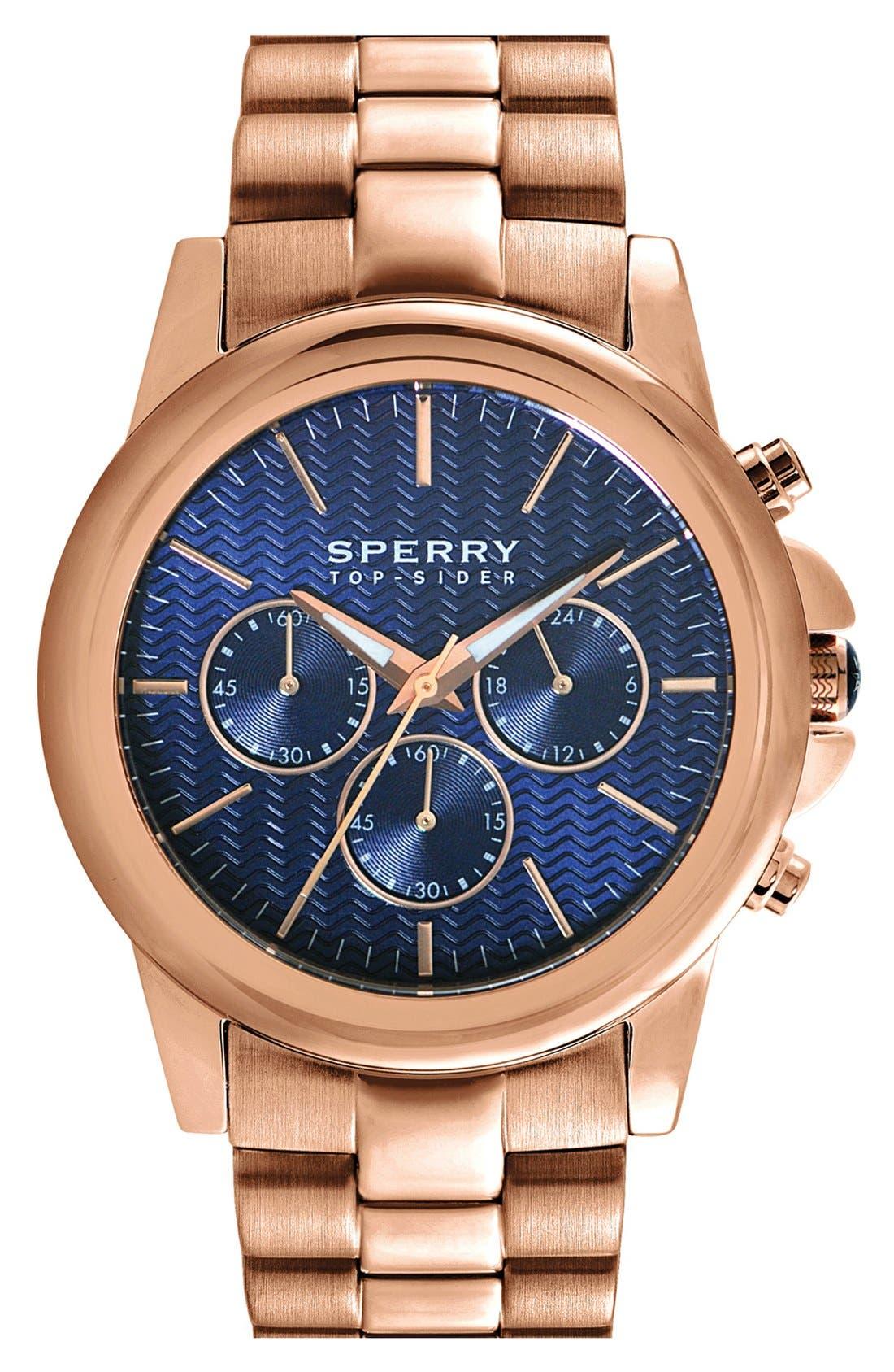 Alternate Image 1 Selected - Sperry Top-Sider® 'Halyard' Chronograph Bracelet Watch, 42mm
