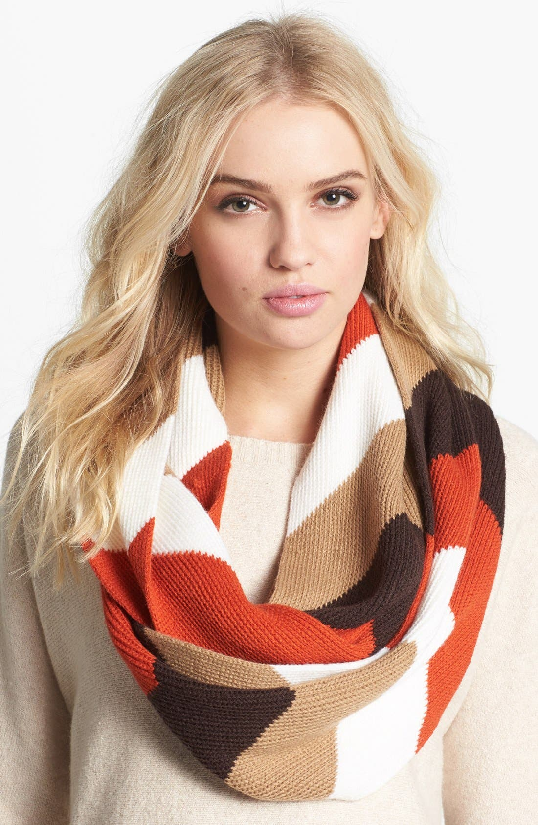 Alternate Image 1 Selected - MICHAEL Michael Kors Chevron Infinity Scarf