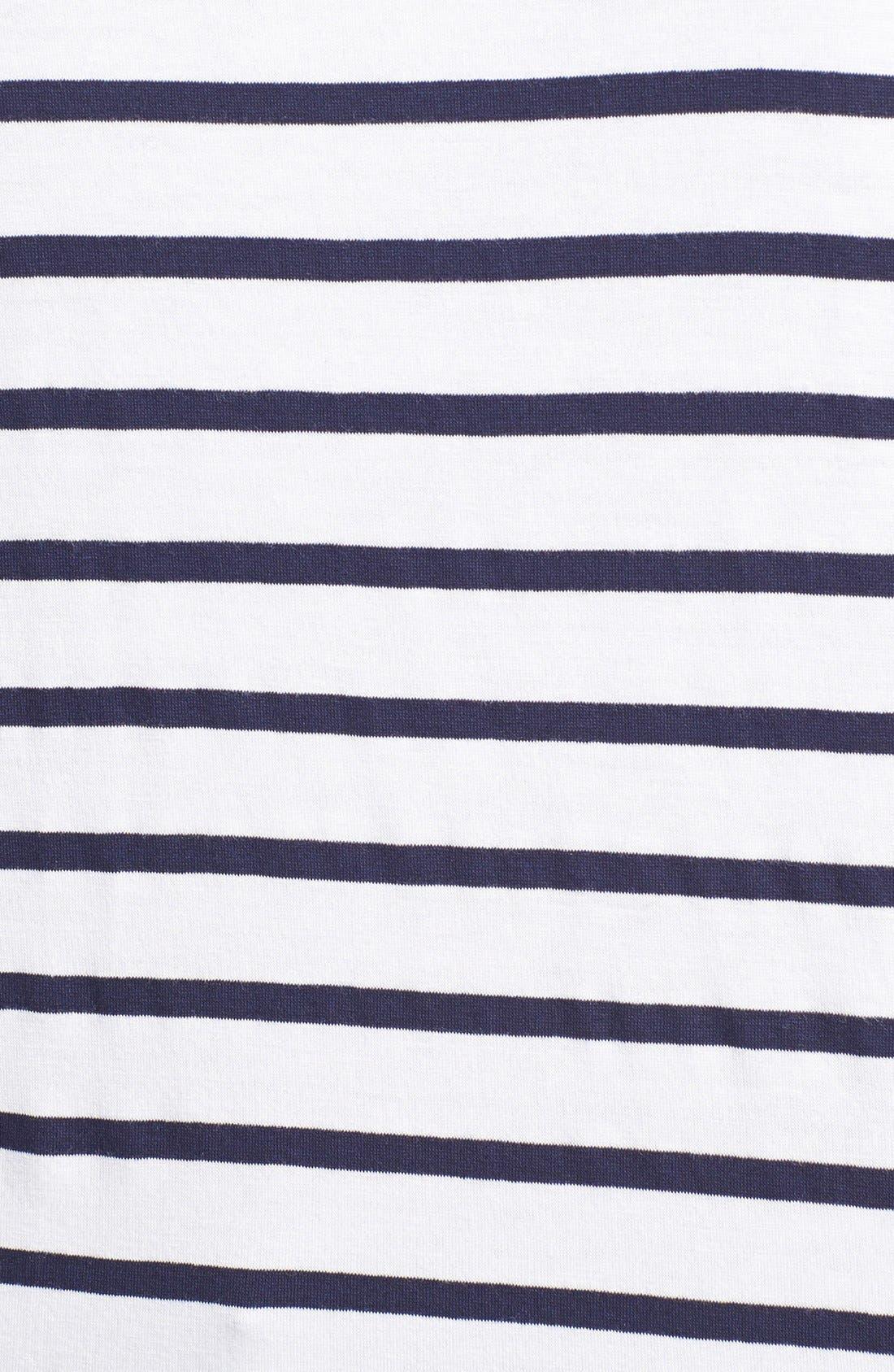 Alternate Image 3  - Pleione Lace Yoke Stripe Tee (Petite)