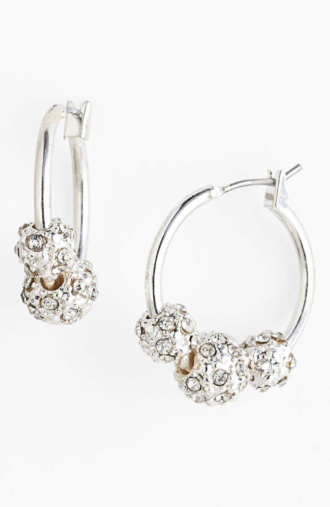 Main Image - Anne Klein Triple Fireball Hoop Earrings