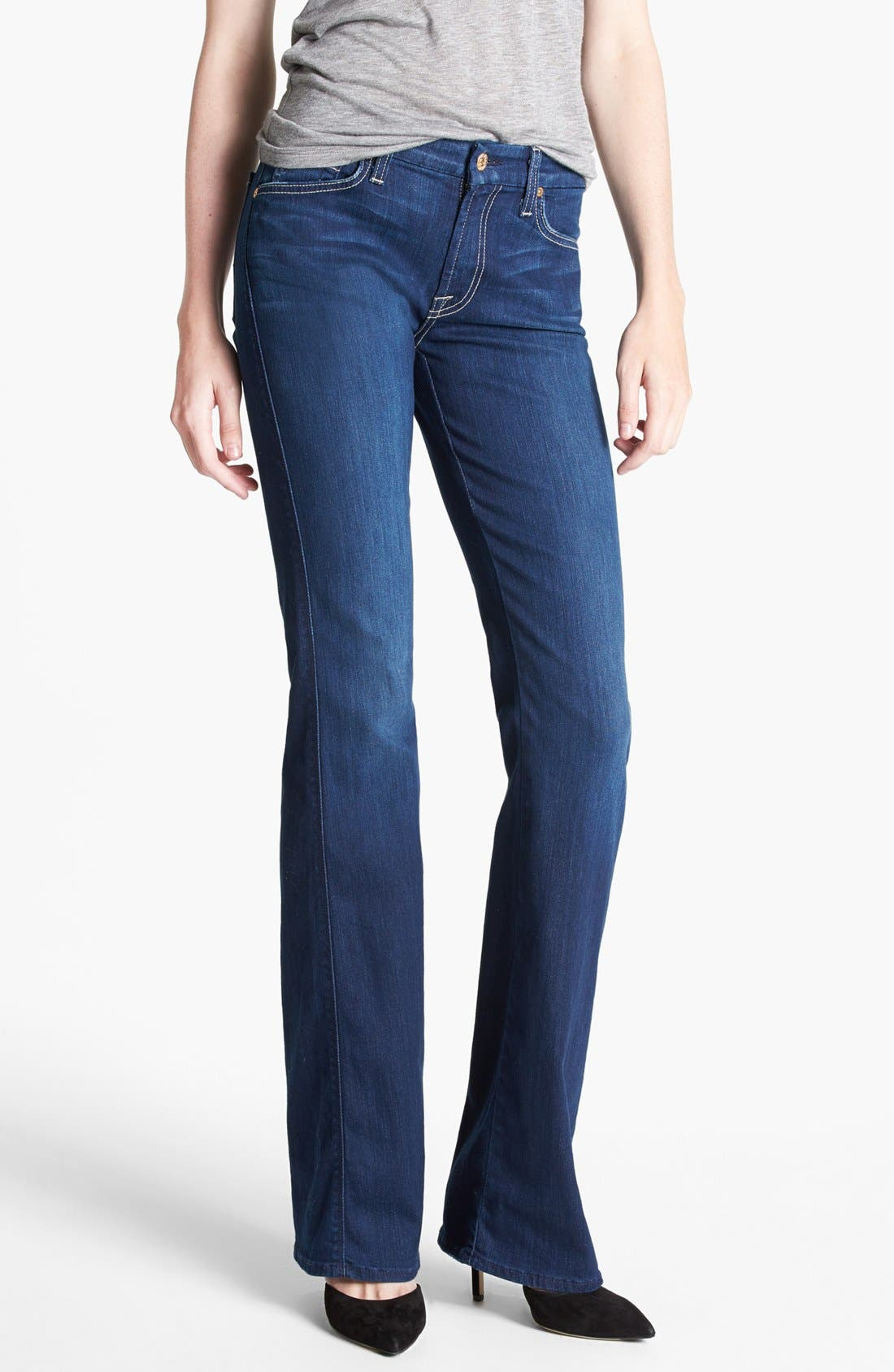 Alternate Image 1  - 7 For All Mankind® 'Kimmie' Bootcut Jeans (Vixen Sky)