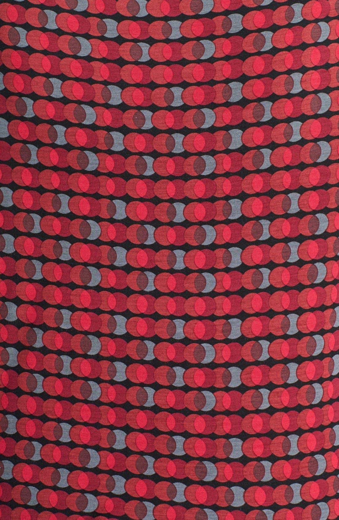 Alternate Image 2  - Halogen® Drape Neck Print Top (Plus Size)