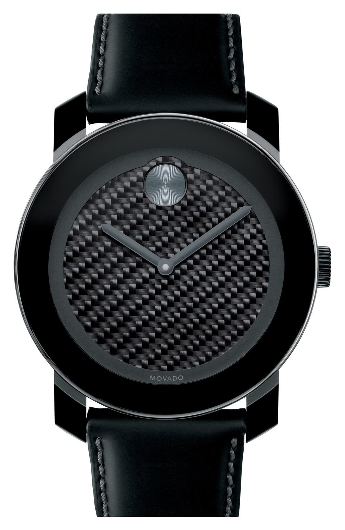 Alternate Image 1 Selected - Movado 'Bold' Carbon Fiber Dial Watch, 42mm