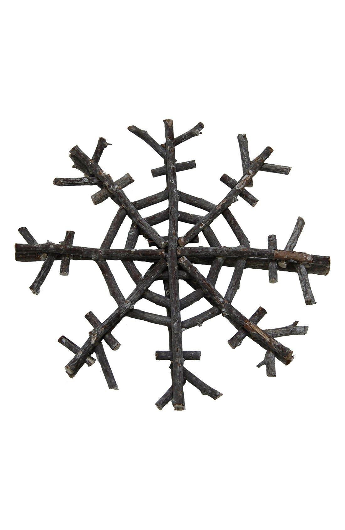 Main Image - Shea's Wildflower Driftwood Snowflake Ornament